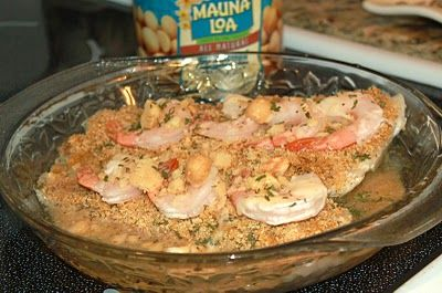 Macadamia Crusted Stuffed Flounder in Butter Wine Sauce - Flounder ...
