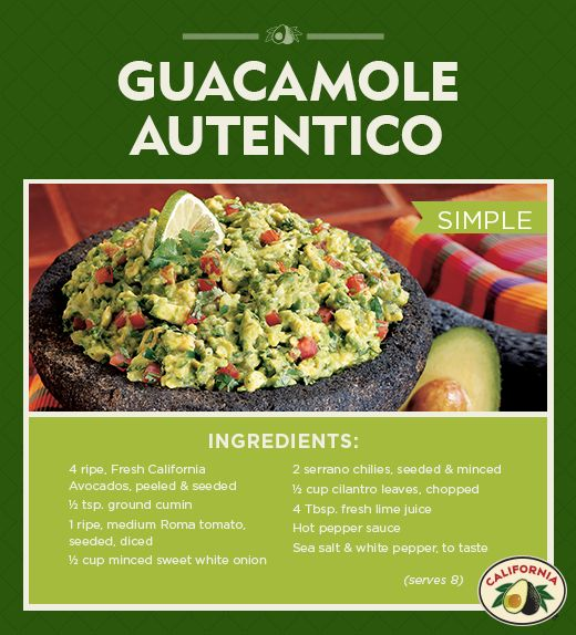Classic Guacamole Recipe with California Avocados for Cinco de Mayo