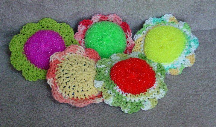 Crochet Patterns Scrubbies : Crocheted scrubbies Crochet The Day Away...Designs & Pattern Possib ...