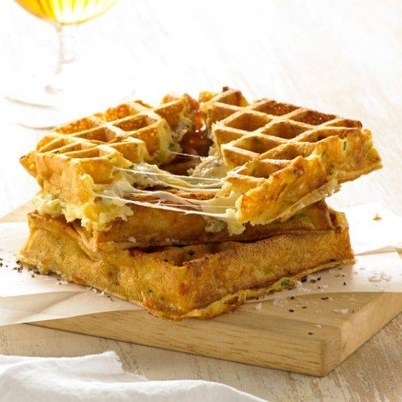 Three Cheese Souffle Waffle | Lunch | Pinterest