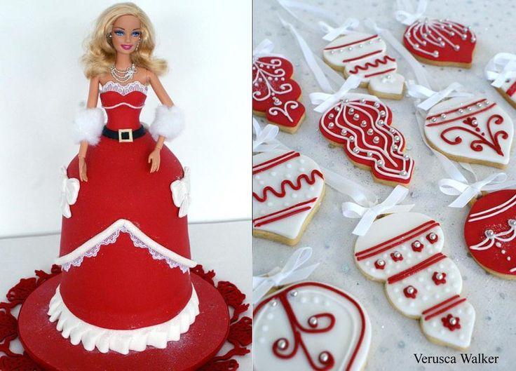 Xmas Doll Cake by ~Verusca   christmas goodies   Pinterest