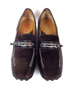 Sesto Meucci Shoes Leather Brown Italy Slip on Career Loafers Womens 9