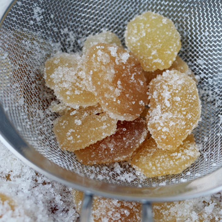 Candied Ginger Ingredients 1 lb fresh ginger (peeled) 4 cups sugar ...