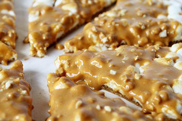 Peanut Butter Marshmallow Butterscotch Dessert Pizza!