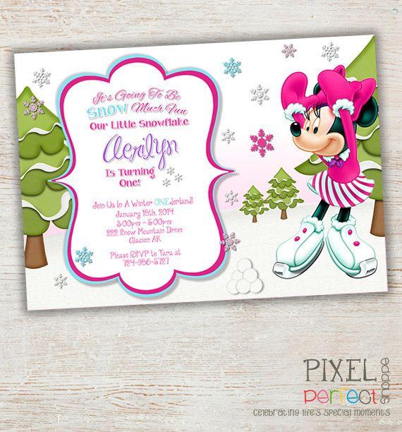 Winter Onederland Party Invitations for perfect invitation design