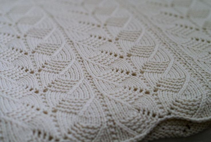 Knitting Patterns For Baby Blankets Pinterest : Gacoco Baby Blanket by minimi Knitting Pattern