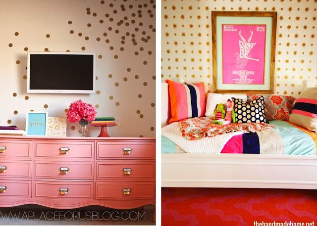 The Homes I Have Made: DIY Gold Polka-Dot Wall