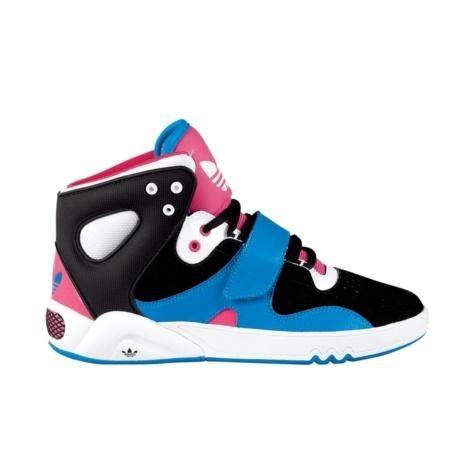Womens adidas Roundhouse Athletic Shoe - Black/Blue/Pink sneaker-freak