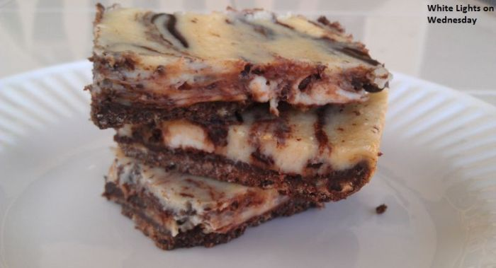 ... Party ~ Black and White Cheesecake Bars - White Lights on Wednesday