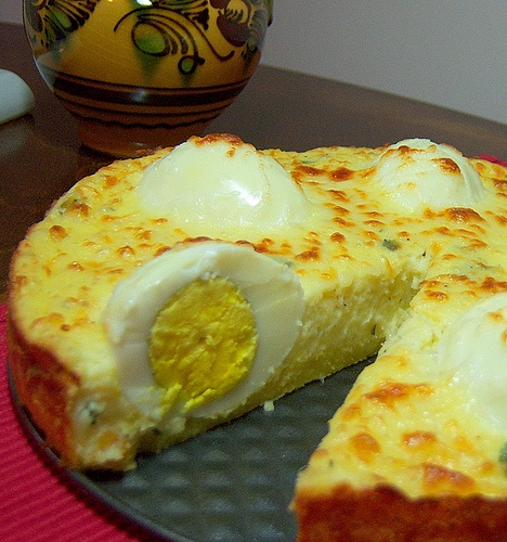 "Polenta Pie - I think I would make this with ""Scotch Eggs"" minus th..."