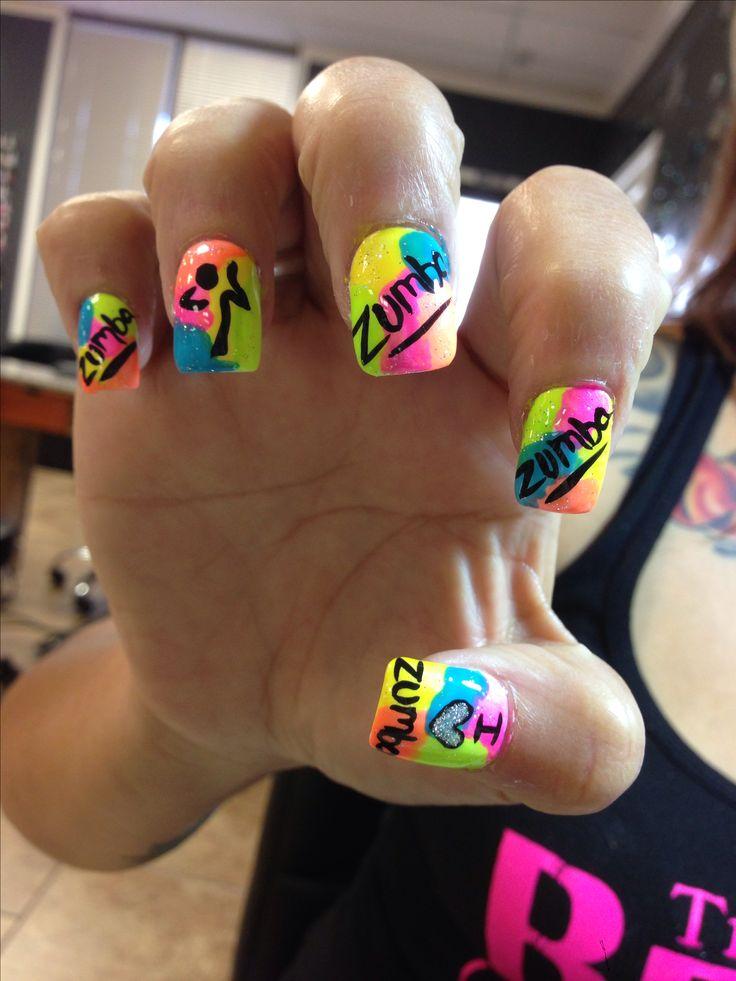 Zumba Nails, Cute! | ZUMBA | Pinterest