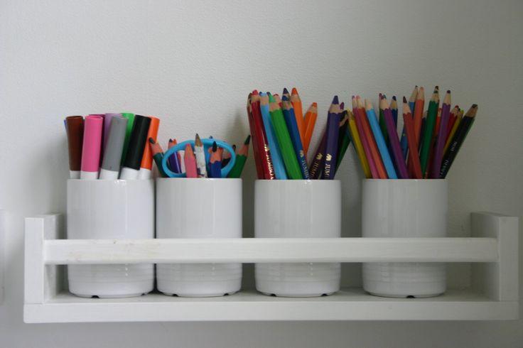 Ikea shelf for desk storage great ideas pinterest - Ikea desk organizer ...