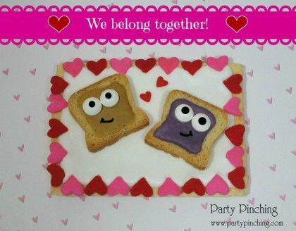 Peanut Butter & Jelly Valentine | Fun Food for Kids! | Pinterest
