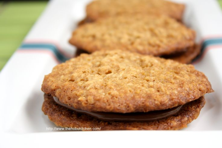 Nutella Oatmeal Cookies - text