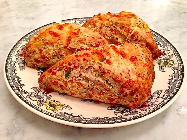 Cheddar Cheese, Cracked Black Pepper, and Chive scone by Blue Bird ...