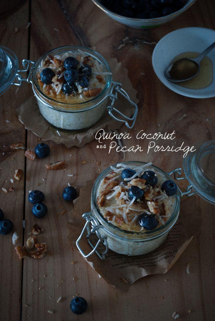Quinoa coconut porridge sugar free fructose gluten protein pecan ...