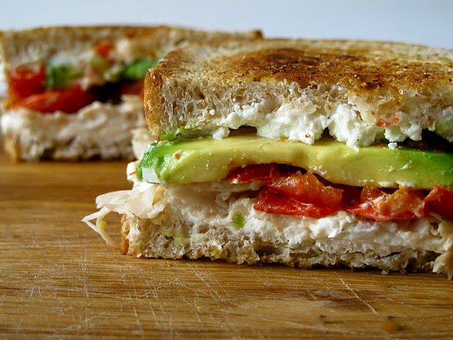 goat cheese grilled cheese.