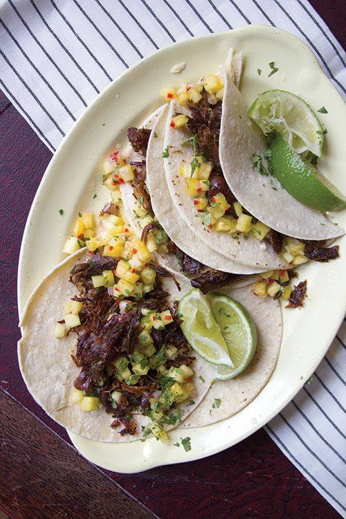BBQ Carnitas Tacos From White Duck Taco Shop Recipe — Dishmaps