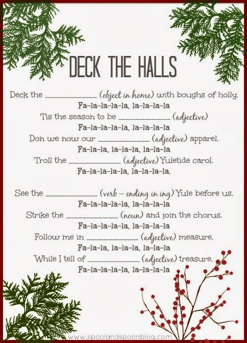 Five PRINTABLE Christmas Carol Mad Libs by Spool and Spoon for Sumo's ...