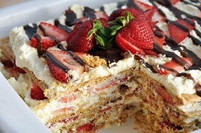 No-Bake Strawberry Icebox Cake | Sweet Indulgences | Pinterest