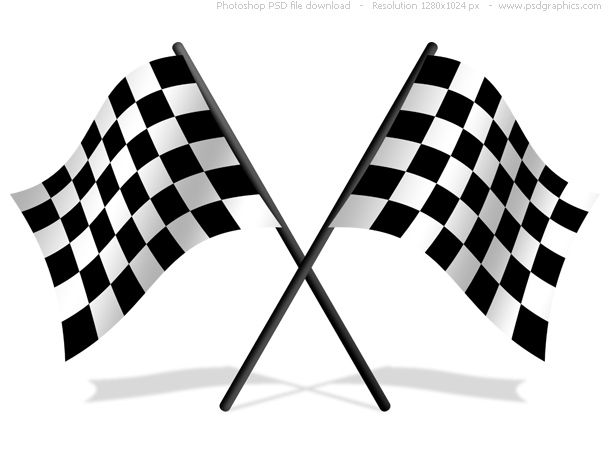 checkered flag banner