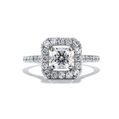 Hearts on Fire princess cut engagement ring