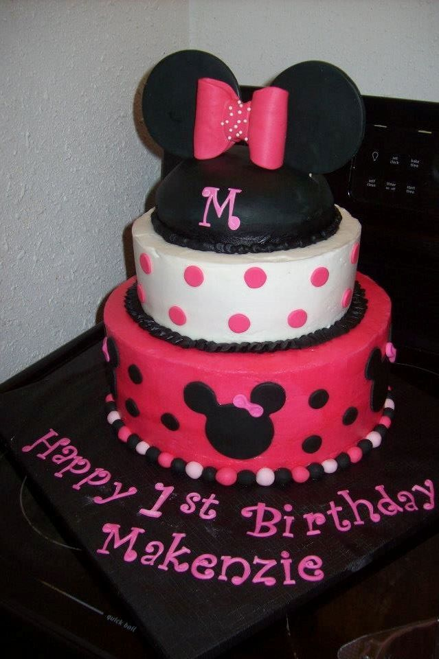 minnie mouse cake I made  2nd birthday party  Pinterest