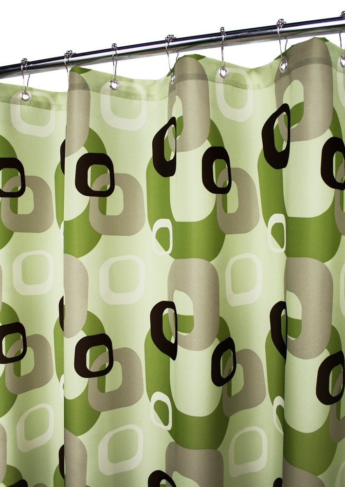 Amazon.com: Park B. Smith Geo Squares Watershed Shower Curtain ...