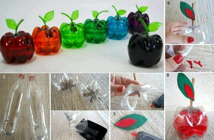 With plastic bottles creative handicrafts pinterest for Handicrafts made of plastic bottles