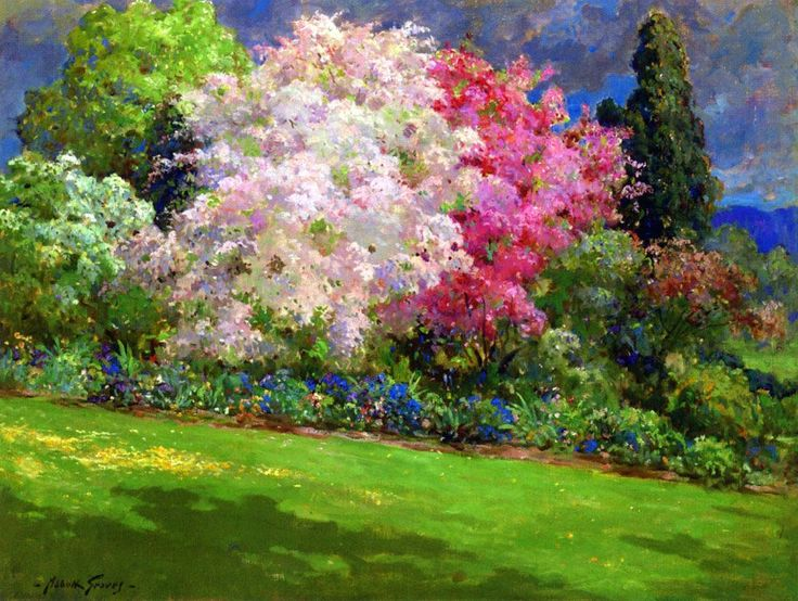 Abbott Fuller Graves (1859 - 1936)  - Spring Garden, Kennebunkport (753х1000)