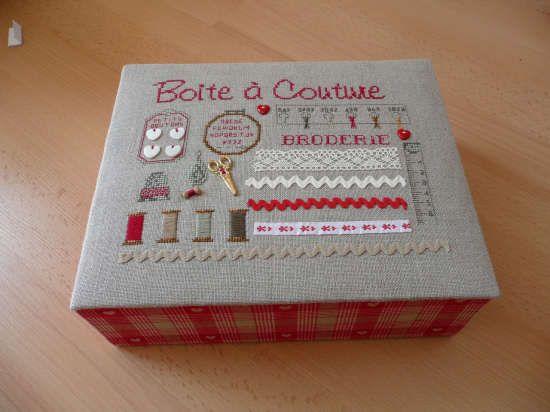 Jolie bo te couture cartonnage pinterest for Jolie boite a couture