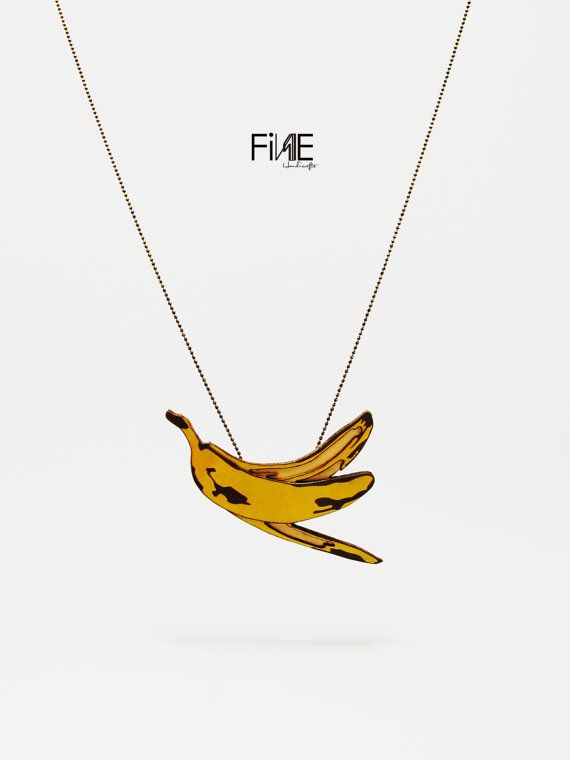 ... www.etsy.com/listing/182375780/banana-peel-handmade-leather-necklace