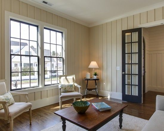 Easy DIY: Painting Panelling : Astounding Traditional Living Room ...