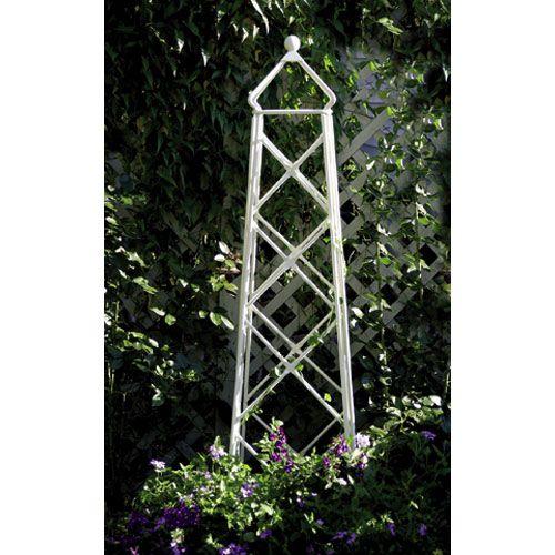 Wrought Iron Lattice Obelisk Achla Designs Trellises