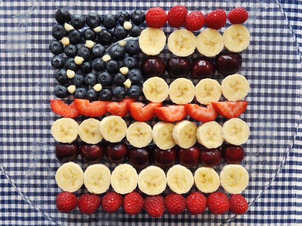 Serious eats 4th of July flag fruit salad recipe.  Serve with dollops of Truwhip.
