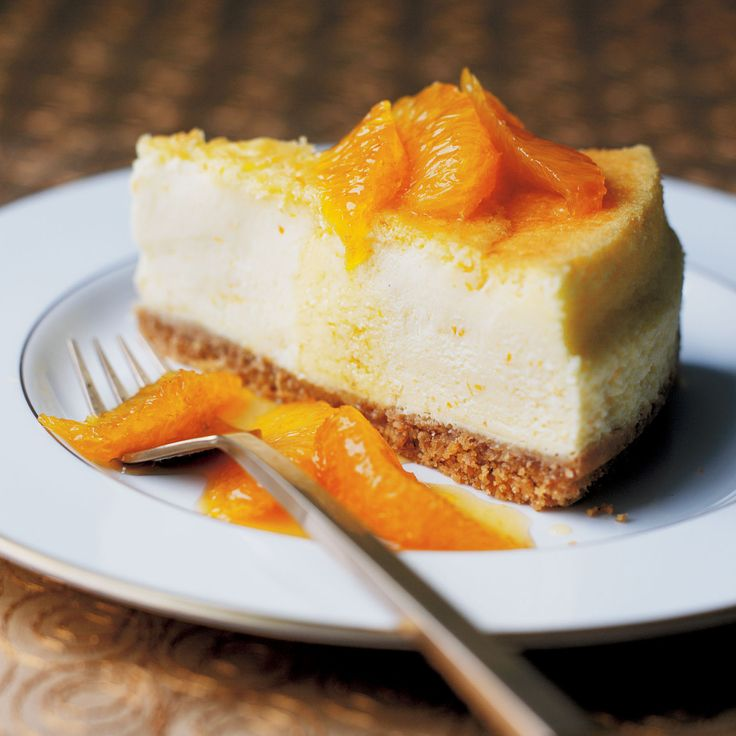 Baked orange cheesecake with caramelized orange. This baked cheesecake ...
