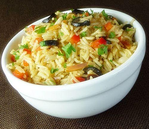 Saffron Almond Rice Pilaf | Secret Recipe Club | Pinterest