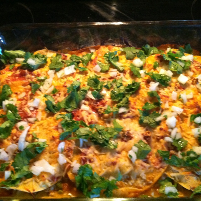 Chicken quesadilla casserole Delicious yet simple. First layer, Line ...