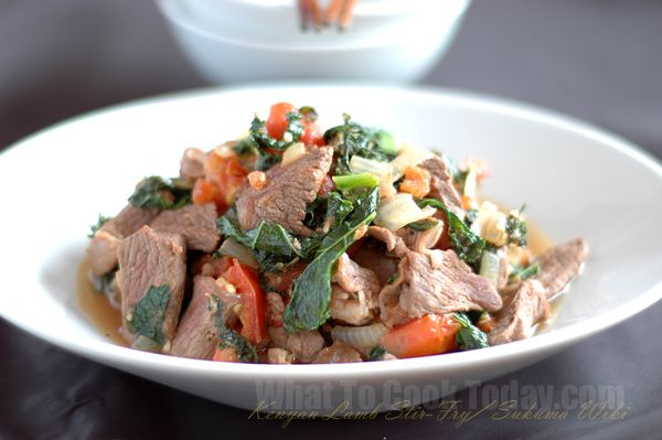 sukuma wiki (Kenyan lamb stew)