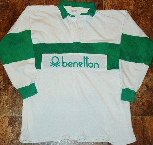 Vintage 80 39 s united colors of benetton mens rugby jersey for United colors of benetton usa