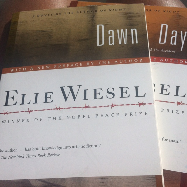 a summary of dawn a book by elie wiesel Night and dawn, both written by elie wiesel, are two books that have changed the way people view life and death night is a story of the holocaust that occurs in the time frame of the.