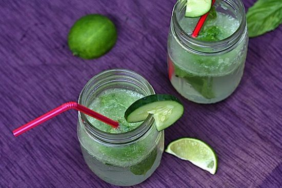 Cucumber Basil Spritzers from Healthy Delicious