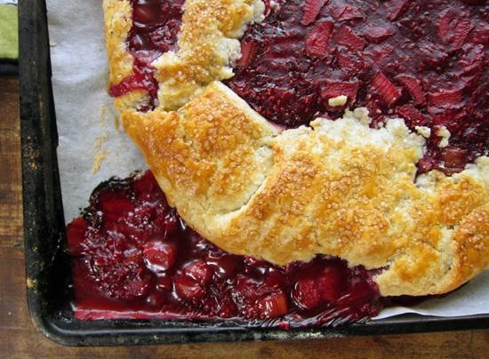 and raspberry crostata recipe yummly rhubarb and raspberry crostata ...