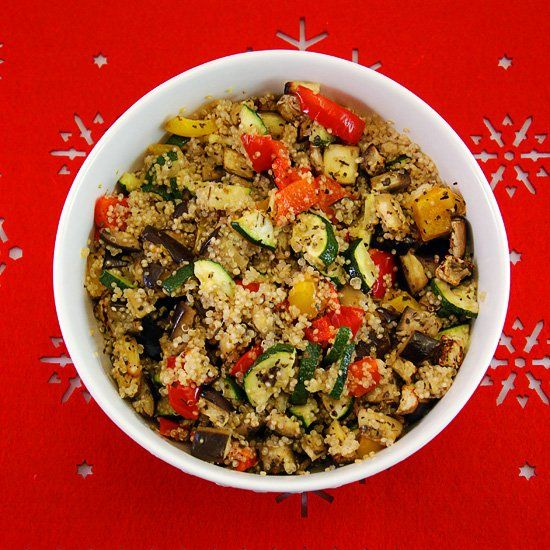 Quinoa with roasted vegetables | Food | Pinterest