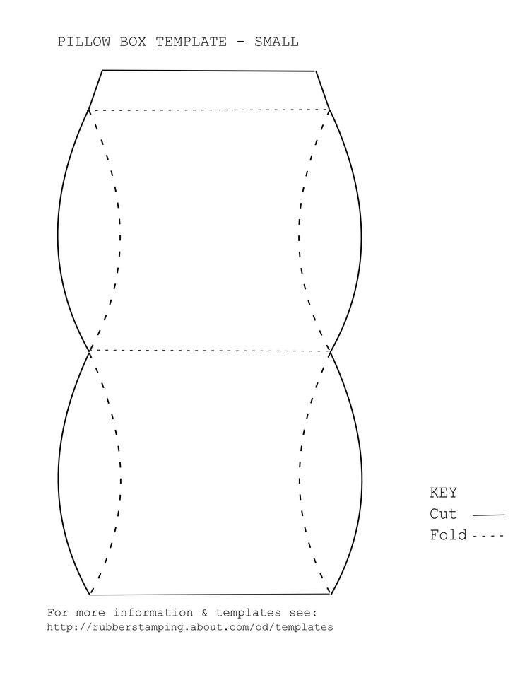 free printable pillow box template
