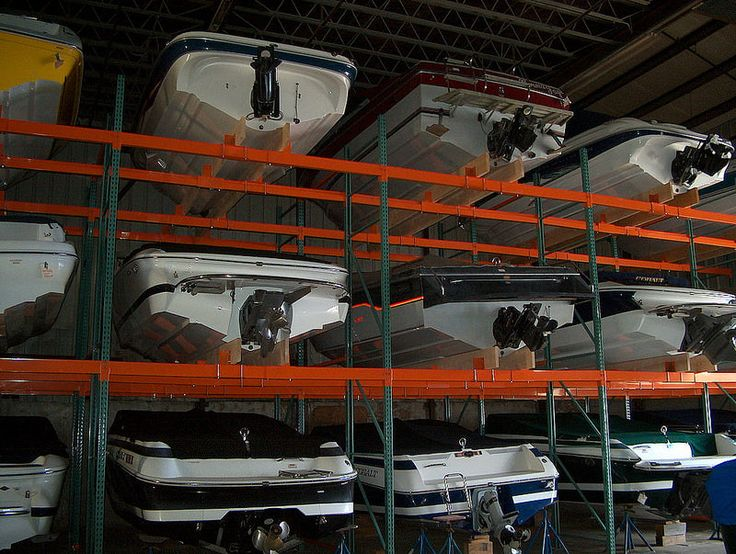 Pallet rack boat storage our pallet rack pinterest for Boat storage garage
