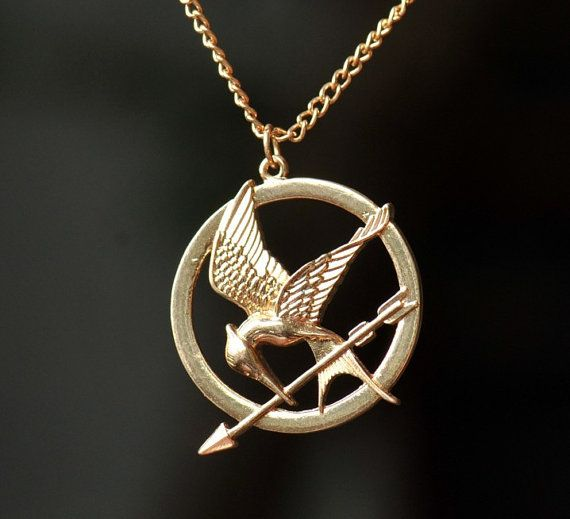 hunger necklace inspired mockingjay necklace with