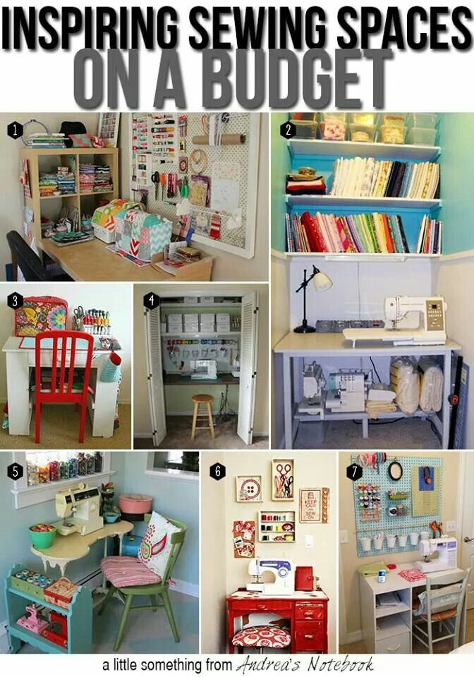 Sewing room ideas organization pinterest Sewing room ideas for small spaces