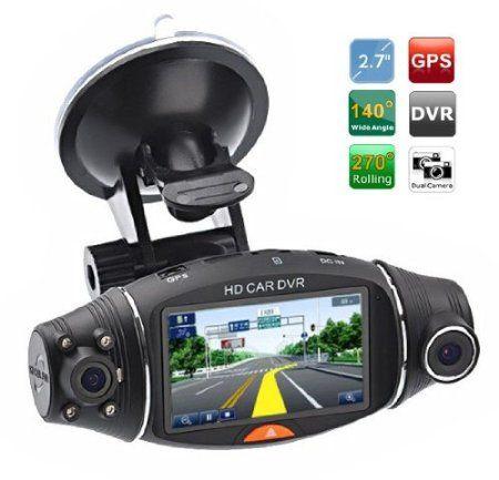 amazon.com: cool gadgets dual camera hd car dvr vehicle