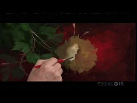 Gary jenkins painting a golden rose painting how to pinterest